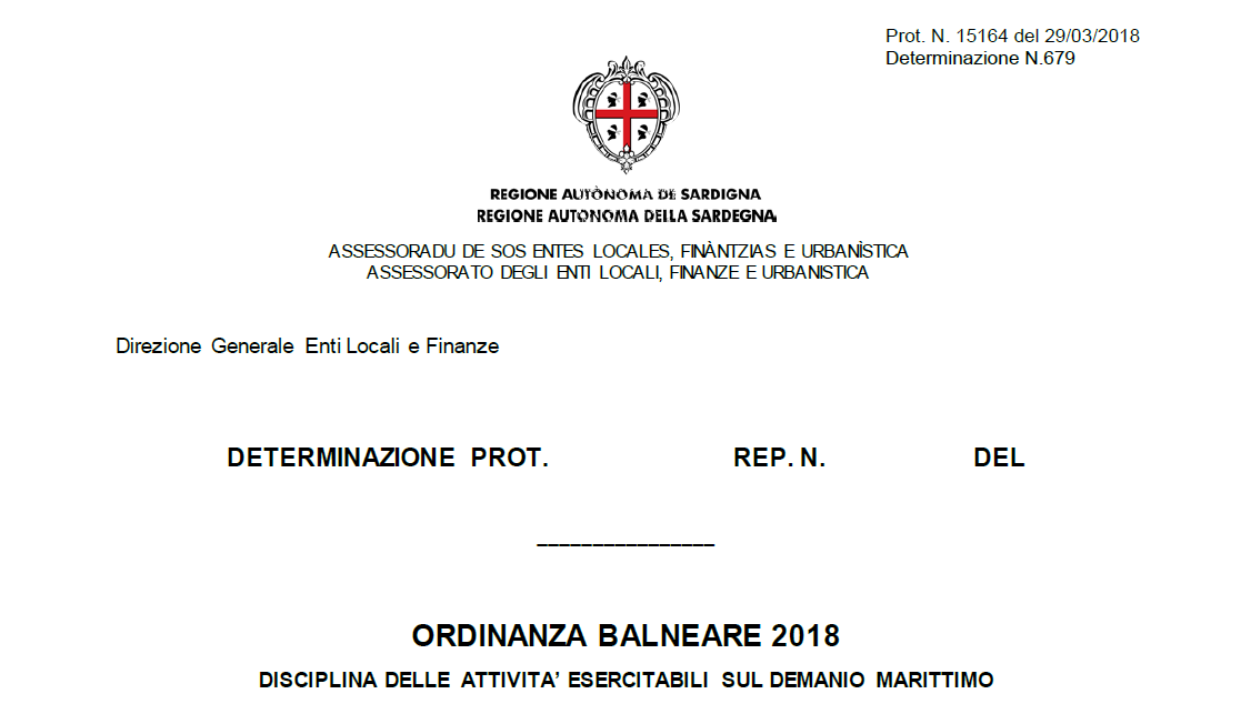 Ordinanza Balneare 2018