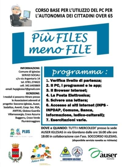 """CORSO D' INFORMATICA """"Più files meno file"""""""