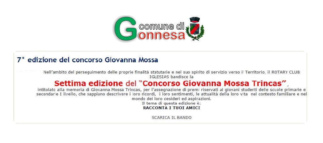 """Settima edizione del """"Concorso Giovanna Mossa Trincas"""""""